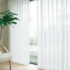 White Voile Sheer Curtain Panel Window Balcony Tulle Room Divider Valances GL