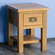 Solid Oak Telephone Coffee Side Table with 1 Draw Side End Wood
