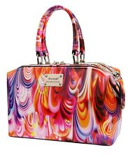 NEW SERENADE PATENT GENUINE LEATHER RAINBOW CLASSIC DOCTOR HANDBAG WITH TAG
