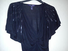 Long Tall Sally LTS sequin shoulder jesery top XS