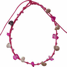 Pink Ankle Bracelet Beach Shells Foot Anklet Chain Womens Girls Feet Jewellery