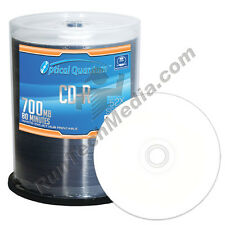 100 Optical Quantum 52x 80 min / 700 MB CD-R White Inkjet HUB Printable