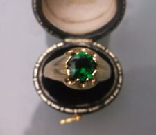 Vintage Men's/Women's 9ct Gold Solitaire Tourmaline Stone Ring Size U 1/2 W4.7g