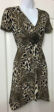 ��NWOT STUNNING STAR JULIEN MACDONALD@DEBENHAMS ANIMAL PRINT TUNIC DRESS SIZE 14