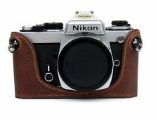 Genuine Leather Half Case for Nikon FM2, FM3A, FE, FE2 Brown - BRAND NEW