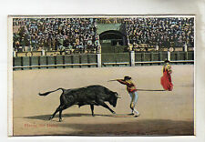 Fixing The Darts Bull Fighting Photo Postcard c1920's