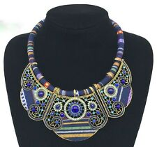 Exotic, Panel Choker, Beaded, Gem NECKLACE