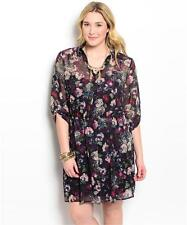 NEW..Beautiful plus size lined chiffon shirt style dress..SZ18-20
