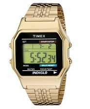 NEW TIMEX VINTAGE RETRO 80's TW2P48200AB ORIGINAL GOLD-TONE UNISEX DIGITAL WATCH