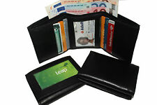 TRI-FOLD LEATHER WALLET WITH CREDIT CARD HOLDER FOR MEN  -  SW-101