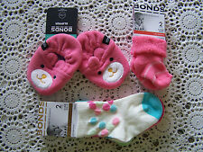 BNWT...Bonds Pink Slippers Size 00-1 & 4 Socks Size 000 & 00-1......