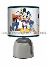 MICKEY MOUSE BLUE ☆ BEDSIDE TOUCH LAMP ☆ BOYS NIGHT LIGHT ☆ MATCHES DUVET
