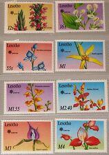 LESOTHO 1990 834-41 756-763 Orchids Orchideen Flowers Blumen Flora Pflanzen MNH