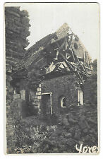 Ypres, WW1 RP PPC Unposted War Damage to Farmhouse, Belgium, Shelling