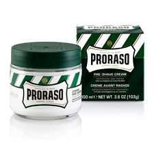 Proraso Pre & Post Shaving Cream Menthol and Eucalyptus 100ml Green Jar