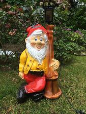 Gartenzwerg XXL 85 cm groß mit Laterne, Gartenfigur UNIKAT!