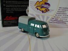 """Schuco 05570 # Piccolo VW T1 DoKa mit Plane Baujahr 1963 in """" taubenblau """"  NEU"""