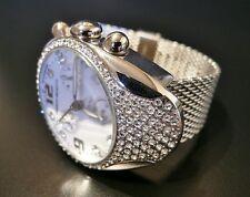 Franchi Menotti 9004 Swiss ETA Chrono - Swarovski Crystals & Mesh Bracelet Watch