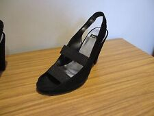 BERTIE BLACK SUEDE LEATHER SANDALS HEELS SIZE 40, 6.5, IN BOX, WORN ONCE.