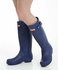 Women's Wellies - Ladies Navy Blue Wellington Boots - Size 5 UK - EU 38