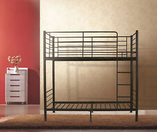 City King Single Bunk Bed in Black,Sturdy Metal Frame,Fast Delivery