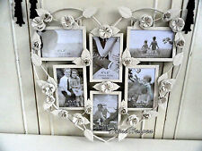 Metal Floral Heart Shape Photo Frame Picture Shabby Chic