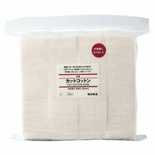 [MUJI] Organic and Unbleached Cut Facial Cotton Pads 180pcs JAPAN NEW