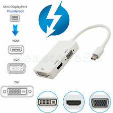 Thunderbolt Mini Display Port To HDMI VGA DVI Cable Adapter for MacBook Pro Air