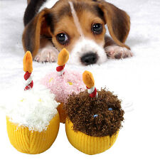 Cute Dog Puppy Toy Pet Toys Plush Birthday Candles Modelling