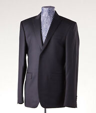 NWT $1495 ROBERTO CAVALLI Black Stripe Slim-Fit Wool Suit 40 R Peak Lapel