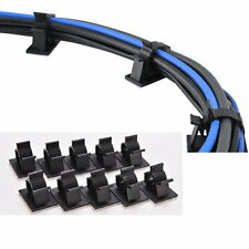 10pcs Cable Cord Wire Organizer Plastic Clips Ties Fixer Holder Self Adhesive