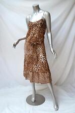 New ZIMMERMANN Brown Animal Leopard Print Cotton-Voile Midi Dress w/ Belt 0/6