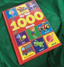 NEW MY FIRST 1000 WORDS & PICTURE HARDBACK BOOK. FOR BABY & TODDLER VOCABULARY