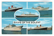 Ships of The Solent - Photo Postcard c1960's