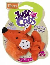 Hartz® AT PLAY  MARTY MOUSE Plush Cat Teaser Toy w/ Bell and Feather.
