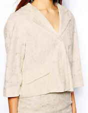 BNWT WAREHOUSE IVORY GUIPURE LACE JACKET rrp £85