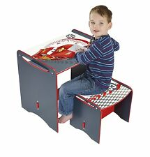 Kids Desk and Stool Disney Cars Writing Study Drawing Art Eating Multi-Color New