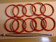 10x O-Ring  für Brüheinheit Brühgruppe Jura,Krups, AEG +Fett ++