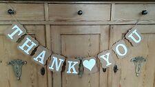 Thank You Bunting Party Wedding Celebration Rustic Shabby Chic Kraft Birthday