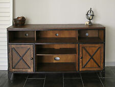 Industrial /Shaker Pine Metal Accents TV Stand Sideboard Buffet Servery Console