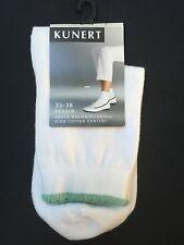 KUNERT elegantes Kurzsöckchen, weiß / türkis Gr. 35-38 , Neu, OVP, 5,95 €