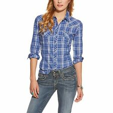 ARIAT - Women's Willa Fitted Snap Shirt - Blue Abyss - ( 10016067 ) - XL - New