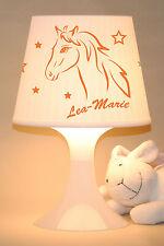 """Kinderlampe """"Pferd mit Wunschnamen, Farbe indiviualisierbar"""""""