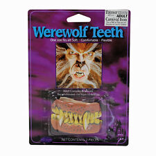 HORROR PARTY MIDNIGHT WOLF #WEREWOLF TEETH MONSTER FANGS HALLOWEEN FANCY DRESS