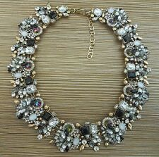 Beautiful Black Crystal Statement Collar Zara