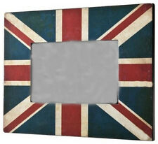 "UNION JACK SHABBY CHIC PHOTO FRAME 6 x 4"" British Patriots Home Decor Gift NEW"