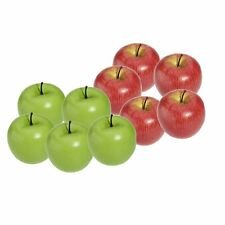 Artificial Apple Plastic Fruits Imitation Home Decor 10pcs Red and Green BF