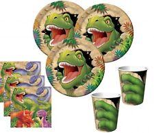 48 tlg. Dinosaurier Party Deko Set für 16 Kinder Jurassic World Kindergeburtstag