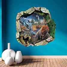 3D Dinosaur T-Rex Head Wall Art Sticker Kids Boys Bedroom Vinyl Mural Decal