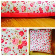 �� Large Floor Teepee Shabby Chic Cushion Cover 80x80cm Pink and Blue Floral ��